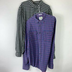 Lot of 2 Lucky Brand Button Shirts Men Sz XL